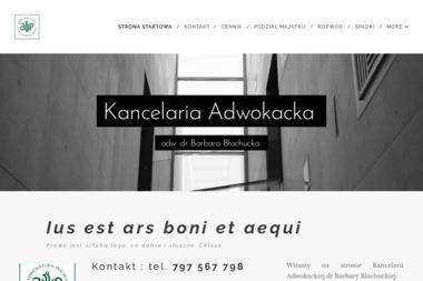 Kancelaria Adwokacka dr Barbara Błachucka - Obsługa prawna firm Warszawa