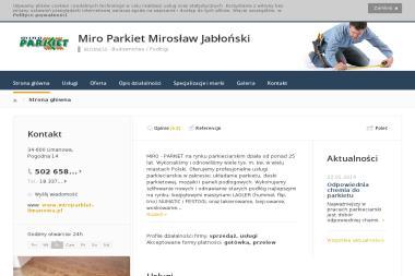 """""""Miro Parkiet """" Mirosław Jabłoński - Cyklinowanie Limanowa"""