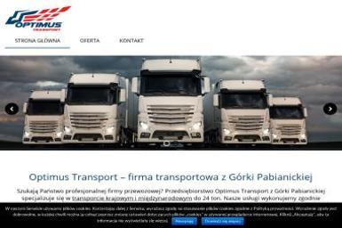 Optimus Transport - Transport ciężarowy krajowy Górka pabianicka