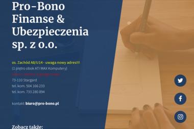 Pro Bono Finanse & Ubezpieczenia Sp. z o.o. - Ubezpieczenia grupowe Stargard