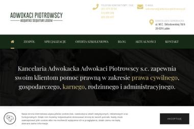 Kancelaria Adwokacka Adwokaci Piotrowscy s.c. - Obsługa prawna firm Lublin