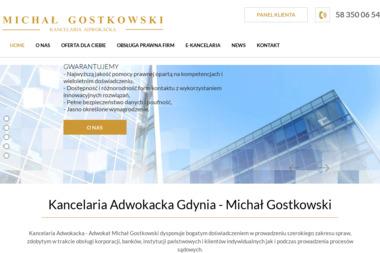 MICHAŁ GOSTKOWSKI  Kancelaria Adwokacka - Obsługa prawna firm Gdynia