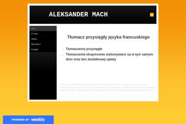 ALEKSANDER MACH - tłumacz przysięgły - Tłumacze Przeworsk