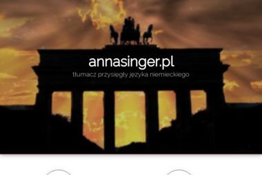 Tłumacz przysięgły języka niemieckiego mgr Anna Singer - Tłumacze Chojnice