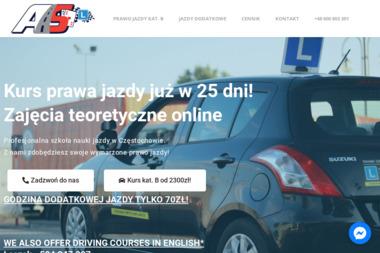 Ośrodek Szkolenia Kierowców AS - Szkoła jazdy Częstochowa