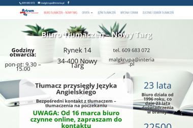 Biuro Tłumaczeń Astrum - Tłumaczenie Angielsko Polskie Nowy Targ