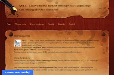 Biuro tłumaczeń QUEST - Tłumaczenia dokumentów Inowrocław