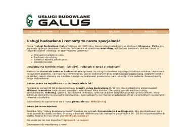 Zbigniew Galus - Układanie Płytek Głogów