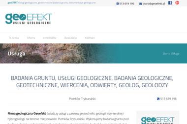 GEOEFEKT - Badania Geologiczne Gruntu Łódź