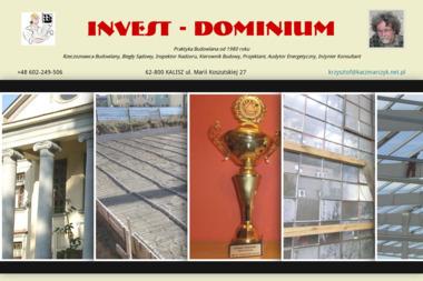 Invest Dominium Krzysztof Kaczmarczyk - Kierownik budowy Kalisz