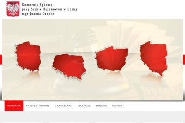 Komornik Sądowy przy Sądzie Rejonowym w Łomży mgr Joanna Grzech - Ściąganie Należności Łomża
