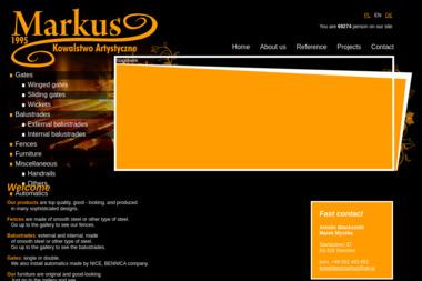 Markus - Kowalstwo artystyczne - Ogrodzenia Nowoczesne Sianowo