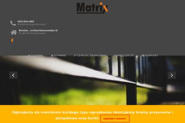 Matrix Ogrodzenia - Ogrodzenia Mińsk Mazowiecki