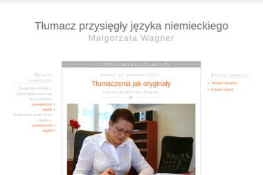 Tłumacz przysięgły języka niemieckiego  Małgorzata Wagner - Biuro Tłumaczeń Nowy Targ