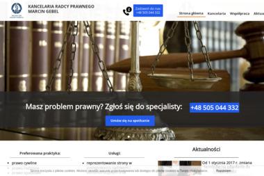Kancelaria Radcy Prawnego Marcin Gebel - Windykacja Racibórz
