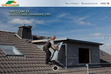 Zakład Usługowo - Handlowy Specdach - Mycie elewacji Lębork