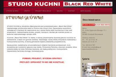 STUDIO KUCHNI - BLACK RED WHITE - Meble Kuchenne Grodzisk Mazowiecki