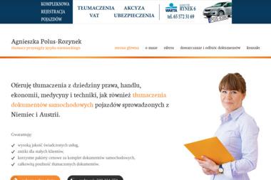 Agnieszka Polus-Rozynek tłumacz przysięgły - Tłumacze Gostyń