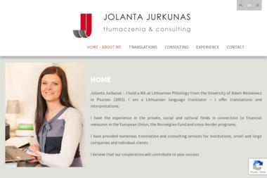 Jolanta Jurkunas Tłumaczenia & Consulting - Tłumacze Puńsk
