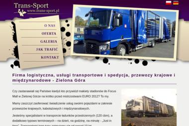 Trans-Sport - Transport międzynarodowy do 3,5t Zielona Góra