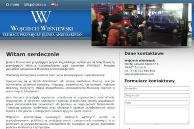 Wojciech Wiśniewski tłumacz przysięgły języka angielskiego - Tłumacze Szczecin