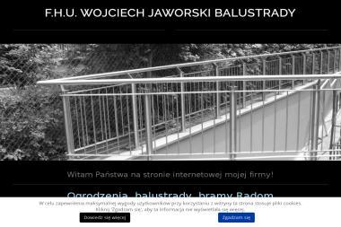 F.H.U. Wojciech Jaworski Balustrady - Sprzedaż Ogrodzenie Metalowych Płachty