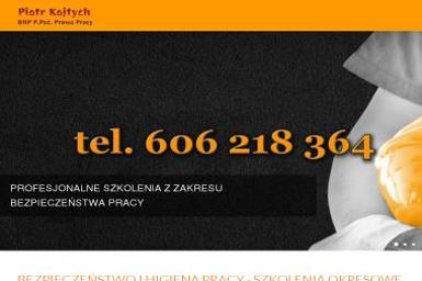 BHP P. Poż. Prawo Pracy Piotr Kojtych - Kurs Kwalifikowanej Pierwszej Pomocy Modrzyca