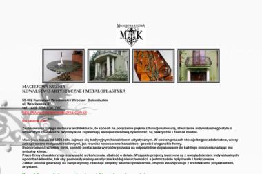 MACIEJOWA KUŹNIA - Przęsła Ogrodzeniowe Metalowe Kamieniec Wrocławski