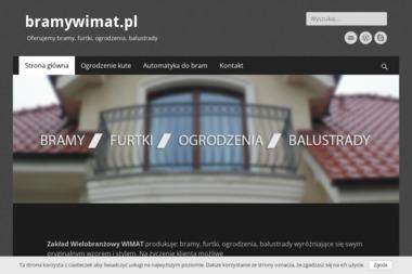 Zakład Wielobranżowy WIMAT - Balustrady Kute Modrzyca