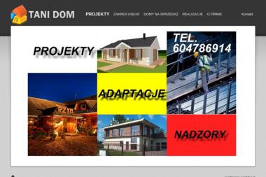 TANI DOM Pracownia Projektowa - Adaptacja Projektu Domu Żnin