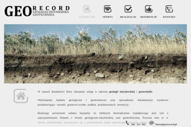 GEORECORD Wojciech Majewski - Przekroje Geologiczne Stryków