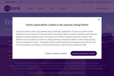 AS Inbank Spółka Akcyjna - Kredyt samochodowy Warszawa