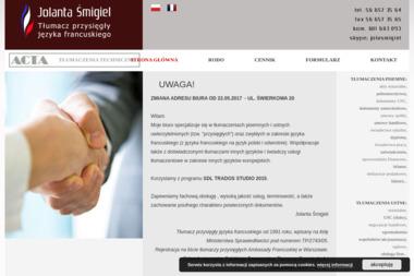 Jolanta Śmigiel Tłumacz przysięgły języka francuskiego - Tłumaczenia dokumentów Toruń