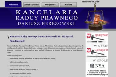 Kancelaria Radcy Prawnego Dariusz Berezowski - Obsługa prawna firm Nysa
