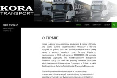 Kora Transport - Transport międzynarodowy Koszalin