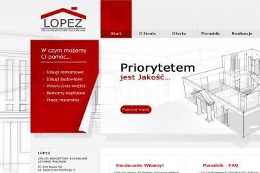 """USŁUGI REMONTOWO – BUDOWLANE """"LOPEZ"""" - Murarz Nowa Sól"""