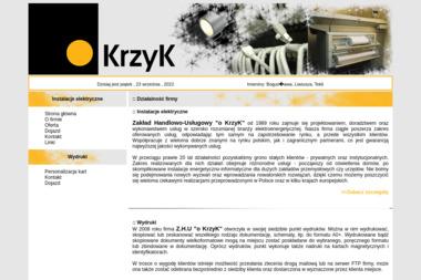 """Zakład Handlowo-Usługowy """"""""o KrzyK"""""""" - Montaż oświetlenia Bielsko-Biała"""