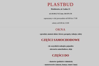 PLASTBUD - Rzemiosło Hrubieszów