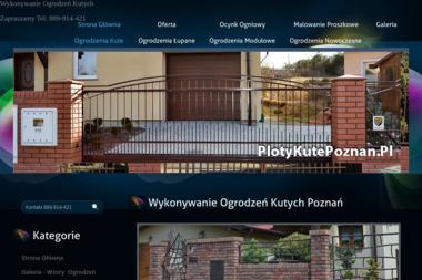 Płoty Kute - Słupki Ogrodzeniowe Metalowe Poznań