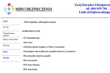 MBM Ubezpieczenia - Agent Ubezpieczeniowy Łódź