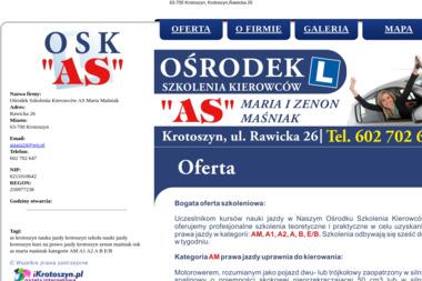 Ośrodek Szkolenia Kierowców AS - Kurs Prawa Jazdy Krotoszyn