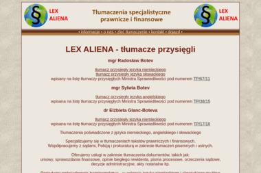 LEX ALIENA Radosław Botev - Tłumacze Mszczonów
