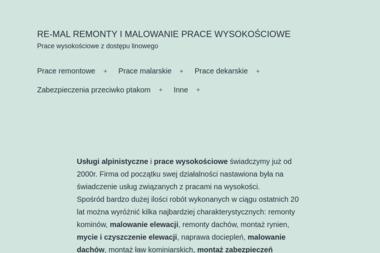 RE-MAL Specjalistyczne Prace Wysokościowe - Prace wysokościowe Rzeszów