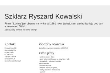 Ryszard Kowalski - Usługi Szklarskie Kalisz