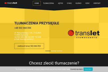 Translet tłumaczenia - Tłumaczenie Angielsko Polskie Białystok