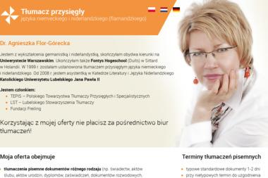 Biuro tłumaczeń Agnieszka Flor-Górecka - Tłumacze Biłgoraj