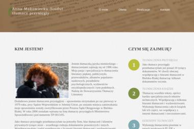 Anna Makowiecka-Siudut tłumacz przysięgły - Tłumaczenie Angielsko Polskie Wadowice