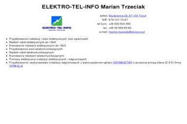 ELEKTRO-TEL-INFO - Biuro Projektowe Instalacji Elektrycznych Toruń