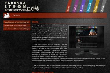 Fabryka Stron Internetowych - Strony internetowe Siemiatycze