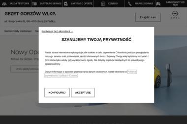 OPEL GEZET - Sprzedawcy samochodów dostawczych Gorzów Wielkopolski